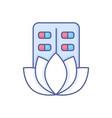 organic medicine - modern line design style icon vector image