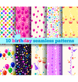 pattern birthday vector image