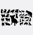 puppy dog cute pet animal silhouette vector image