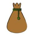 sack bag symbol vector image vector image