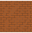seamless background of brick wall vector image vector image
