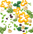 Seamless ornament vegetarian fresh juicy vegetable vector | Price: 3 Credits (USD $3)