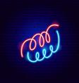 serpentine neon sign vector image