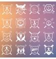 set badges cricket vector image