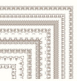 set of ornate frames and borders vector image vector image