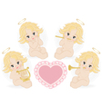set of small angels vector image vector image