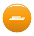 ship river icon orange vector image