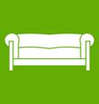 sofa icon green vector image vector image
