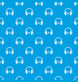 sound in headphones pattern seamless blue vector image