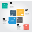 Speech bubble infographic for business project vector image