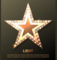 star retro light banner vector image vector image