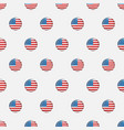 stars and stripes seamless pattern usa vector image vector image