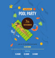 summer invitation to event on party near pool vector image