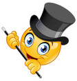 tap dancer emoticon vector image