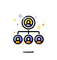 team leadership icon for corporate management vector image vector image