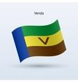 Venda flag waving form vector image vector image