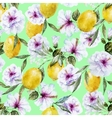 Watercolor lemon pattern vector image vector image