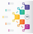 web template of a chart mindmap or diagram with 5 vector image