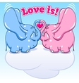 winged baby elephant in love vector image vector image