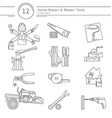 Set of building tools vector image