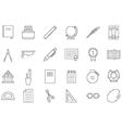 Education black icons set vector image
