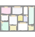 Paper torn page notes Blank notepad pages with vector image