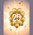 25th year anniversary background vector image