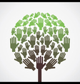 abstract hand tree vector image vector image