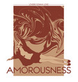 amorousness hand drawn pretty vector image vector image