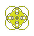 an abstract emblem the logo a symbol consisting vector image vector image