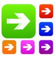 arrow set collection vector image vector image