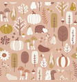 autumn seamless pattern in subtle fall vector image vector image