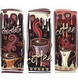 banners with coffee vector image
