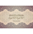 Baroque invitation patina vector image vector image