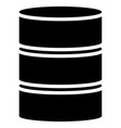 barrel shape silhouettes simple 3d barrel icons vector image