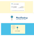beautiful lollypop logo and business card vector image