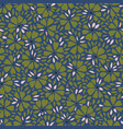 blue and green pattern with abstract flower vector image vector image