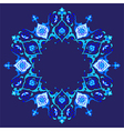 blue artistic ottoman pattern series fifty eight vector image vector image