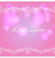 Bokeh background with decorative border