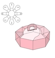 Box die cut vector image vector image