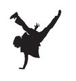 Breakdance silhouette vector image vector image