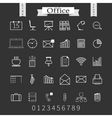 Business and office thin icons set Trendy line vector image vector image