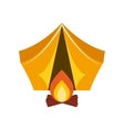 camping tent and campfire vector image