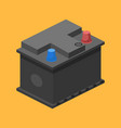 car battery isometric vector image vector image