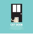Cat Passing Through The Door For Cat vector image vector image
