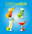 cocktail alcohol drink beverage mojito travel vector image vector image