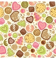 Colorful cookies seamless pattern background vector image vector image