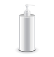 Cosmetic plastic bottle with dispenser pump vector image vector image
