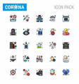covid19 corona virus contamination prevention vector image vector image
