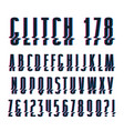 decorative sanserif font vector image vector image